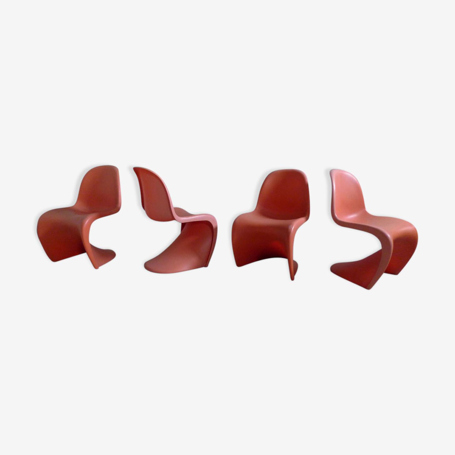 Série de 4 chaises Panton de Verner Panton pour Vitra, 2000