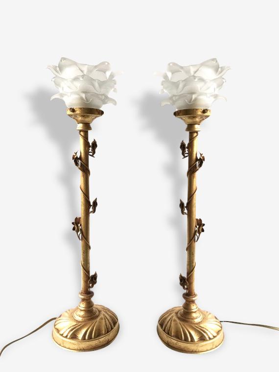 Paire de lampes de boudoir italiennes