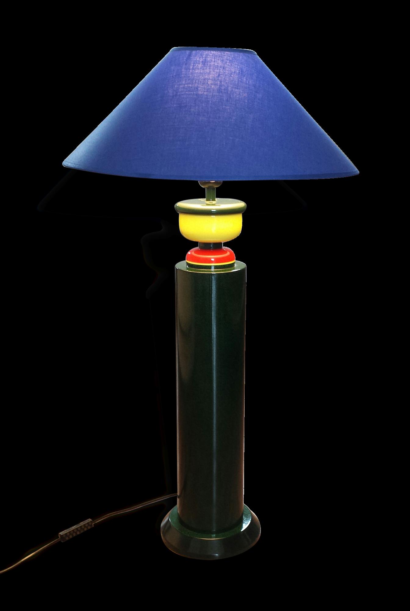 Grande Lampe coloré de Olivier Villatte 1980