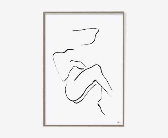 Femme au repos n°1-30x42cm