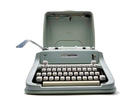 Machine à écrire Hermes Media 3 verte tilleul