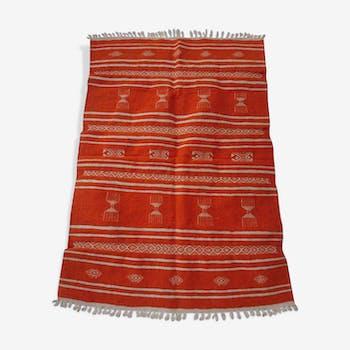 Orange and white carpet 140x100cm