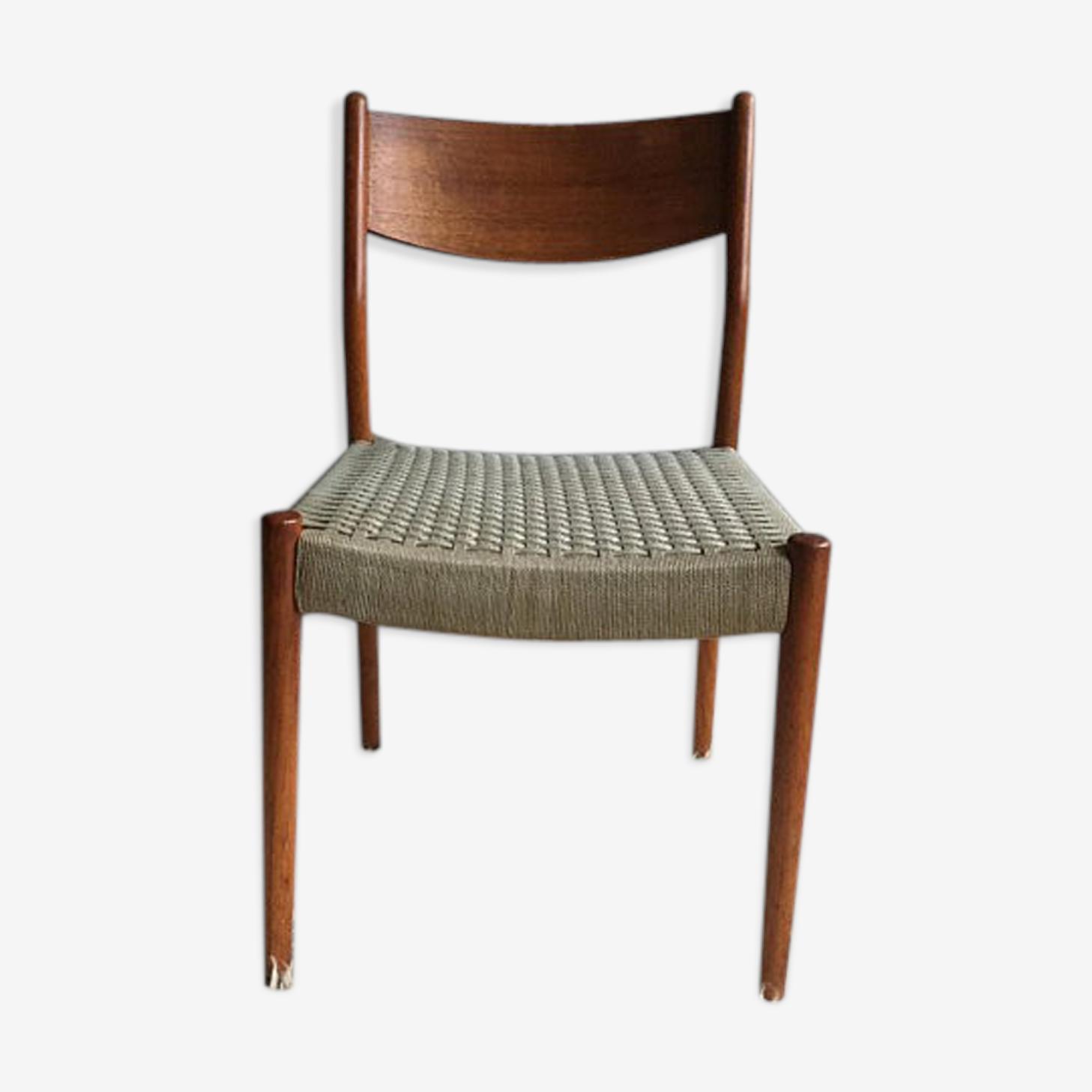 Chaise scandinave vintage en teck de cees braakman