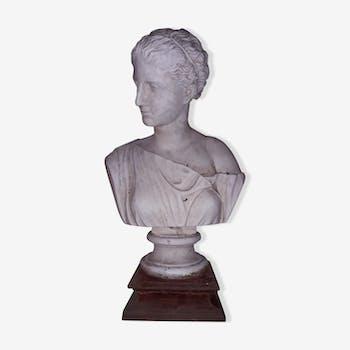 """Buste plâtre """"femme à l'Antique"""""""