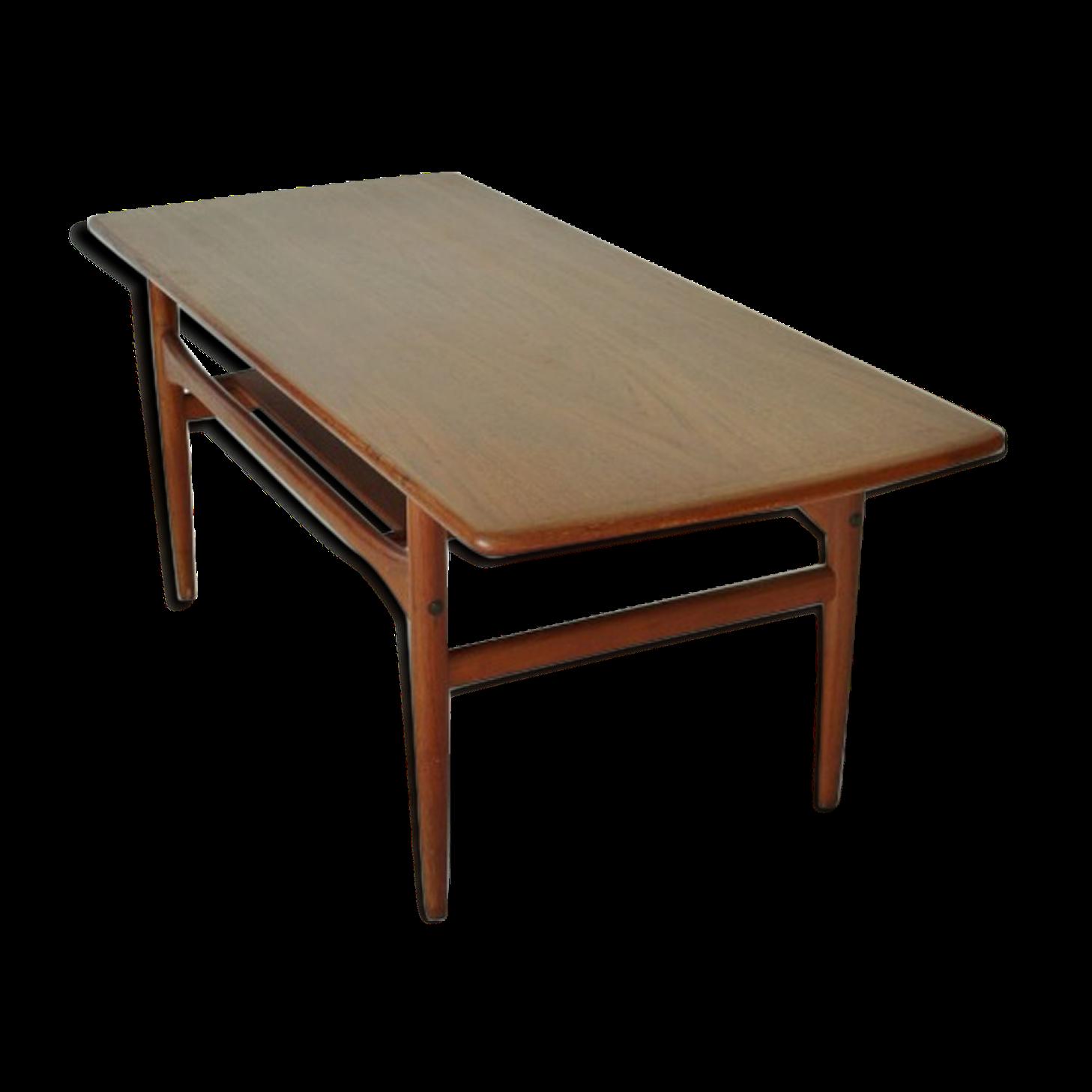 Table Basse Scandinave Teck Arrebo