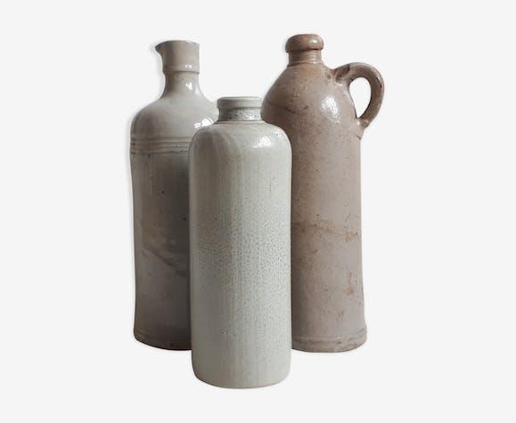 Lot d'anciennes bouteilles grès