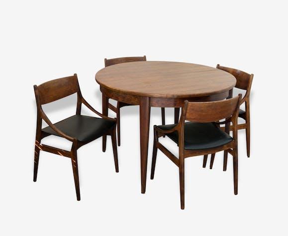 Trs Bel Ensemble Table Chaises Scandinave En Palissandre De Rio