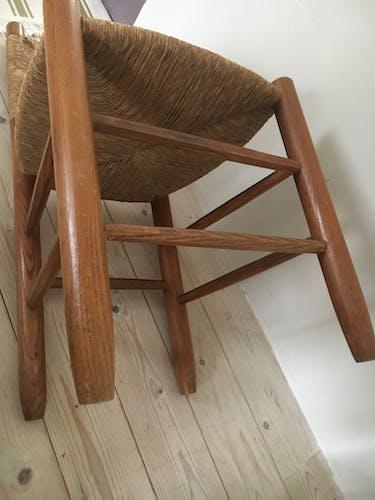 """Serie de 6 chaises par Charlotte Perriand modèle dit """"bauche 19"""" 1960"""
