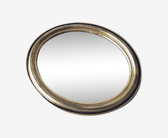 Miroir ovale doré