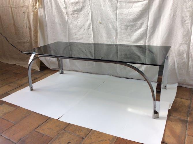 Table basse vintage en verre