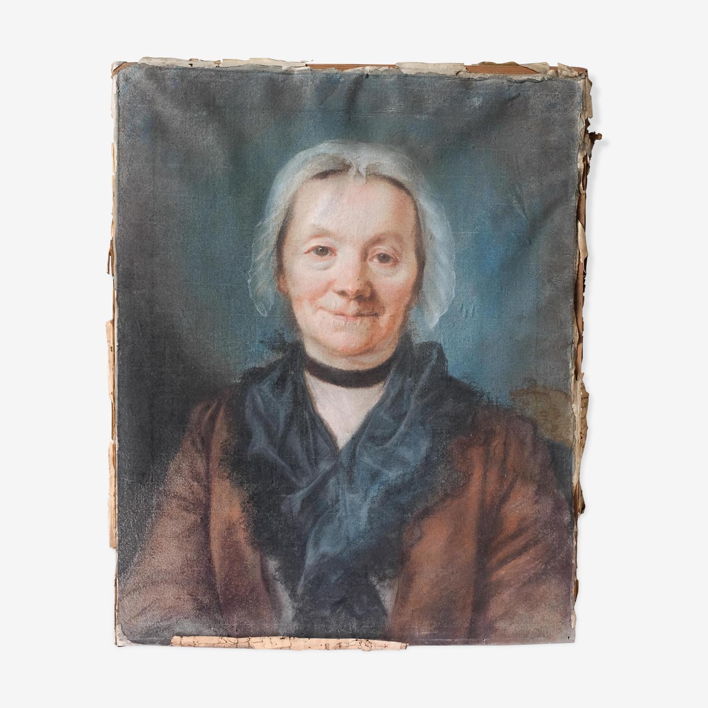 Portrait de dame âgée  18ème