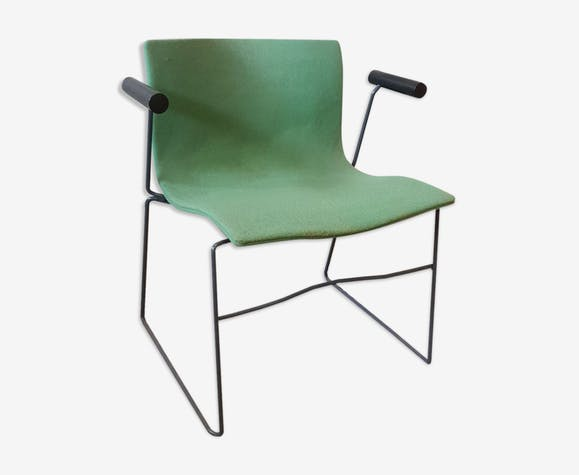 Armchair Handcrafted by Massimo Vignelli for Knoll international