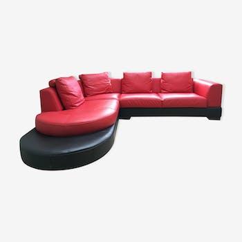 Two-tone design corner sofa