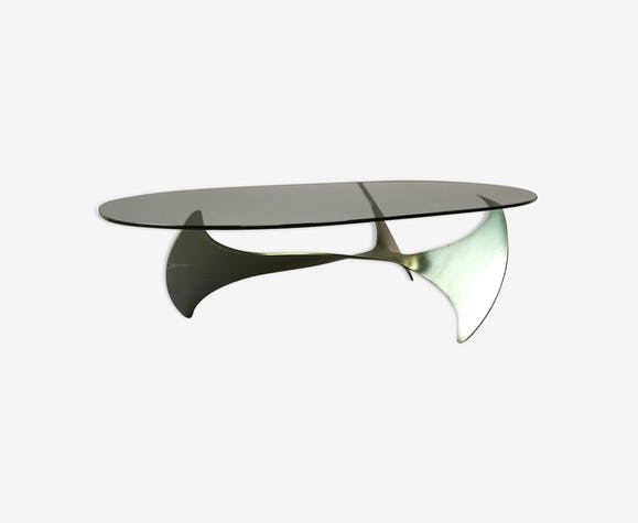 70 Design Table Fer Basse N1l240u Années Legeard Gris Paul T3KJclF1