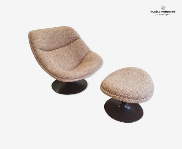 Pierre paulin f557 chair + footstool by artifort