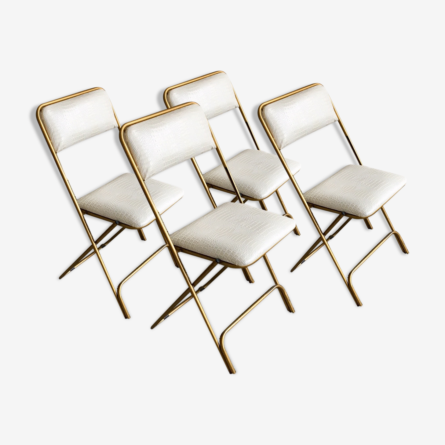 Chairs folding vintage restored