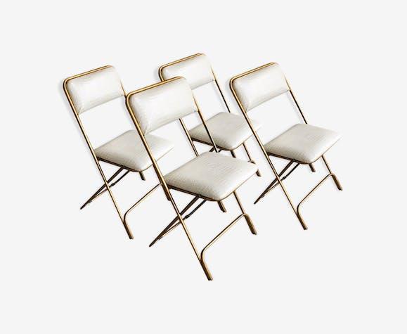 Chaises pliantes vintage restaurées