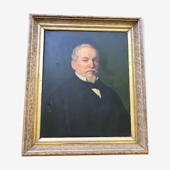 Portrait de bourgeois du  XIXème siècle