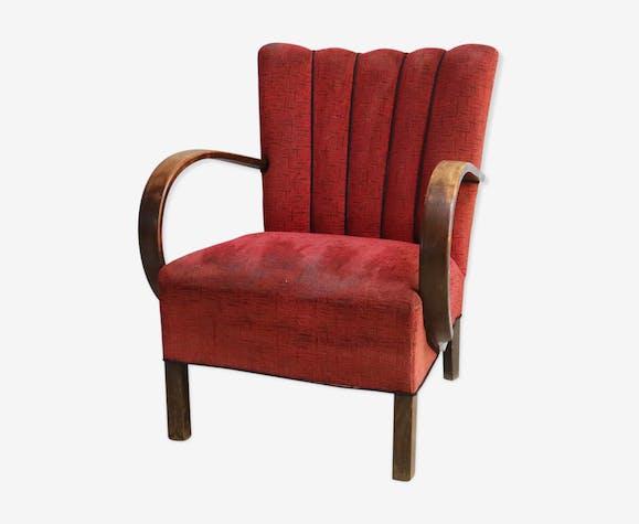 1930's Czech Art Deco bentwood armchair by Jindrich Halabala