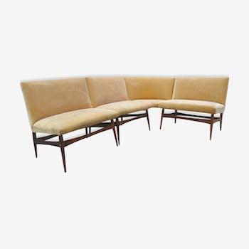 Bench modular Danish 50/60s by Finn Juhl