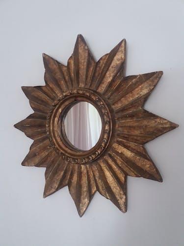 Miroir soleil en bois début XXème