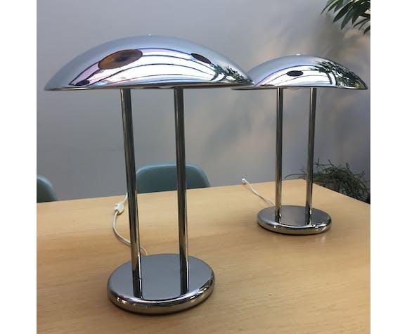 Pair of modernist mushroom lamps
