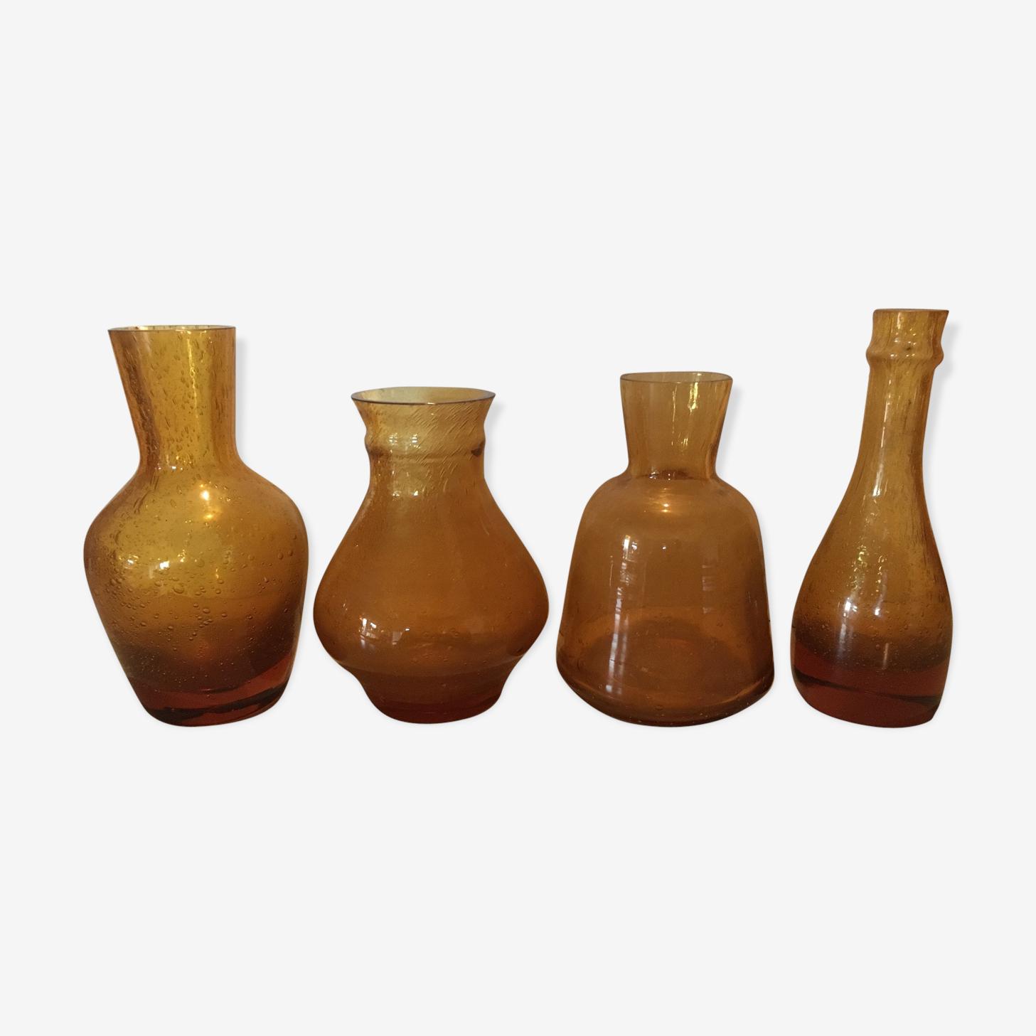 Set de 4 pièces de verrerie de Biot