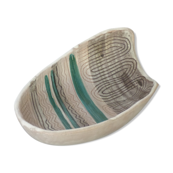 Coupelle-coupe-saladier ceramique-porcelaine-faience multicolore