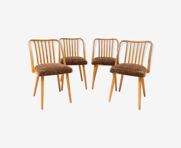 Chaises en bois par Antonin Suman pour Jitona, Tchécoslovaquie