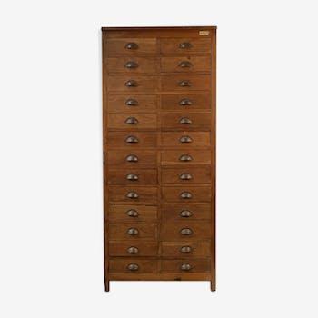 Meuble d'atelier en bois à 26 tiroirs