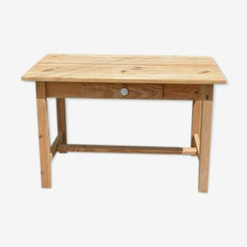 Table de ferme en bois naturel