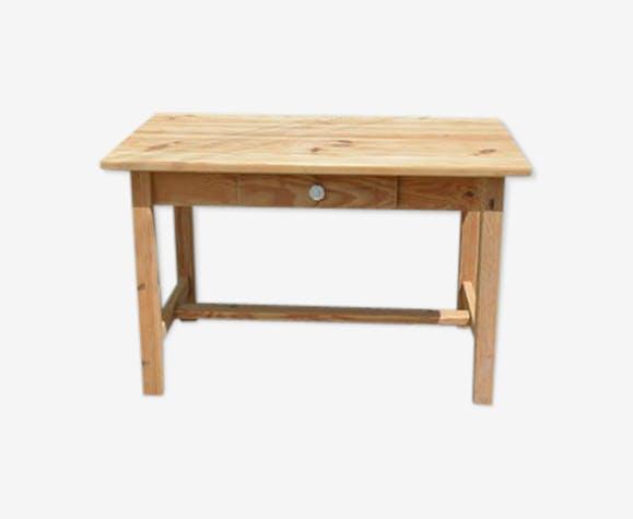 Table de ferme en bois naturel