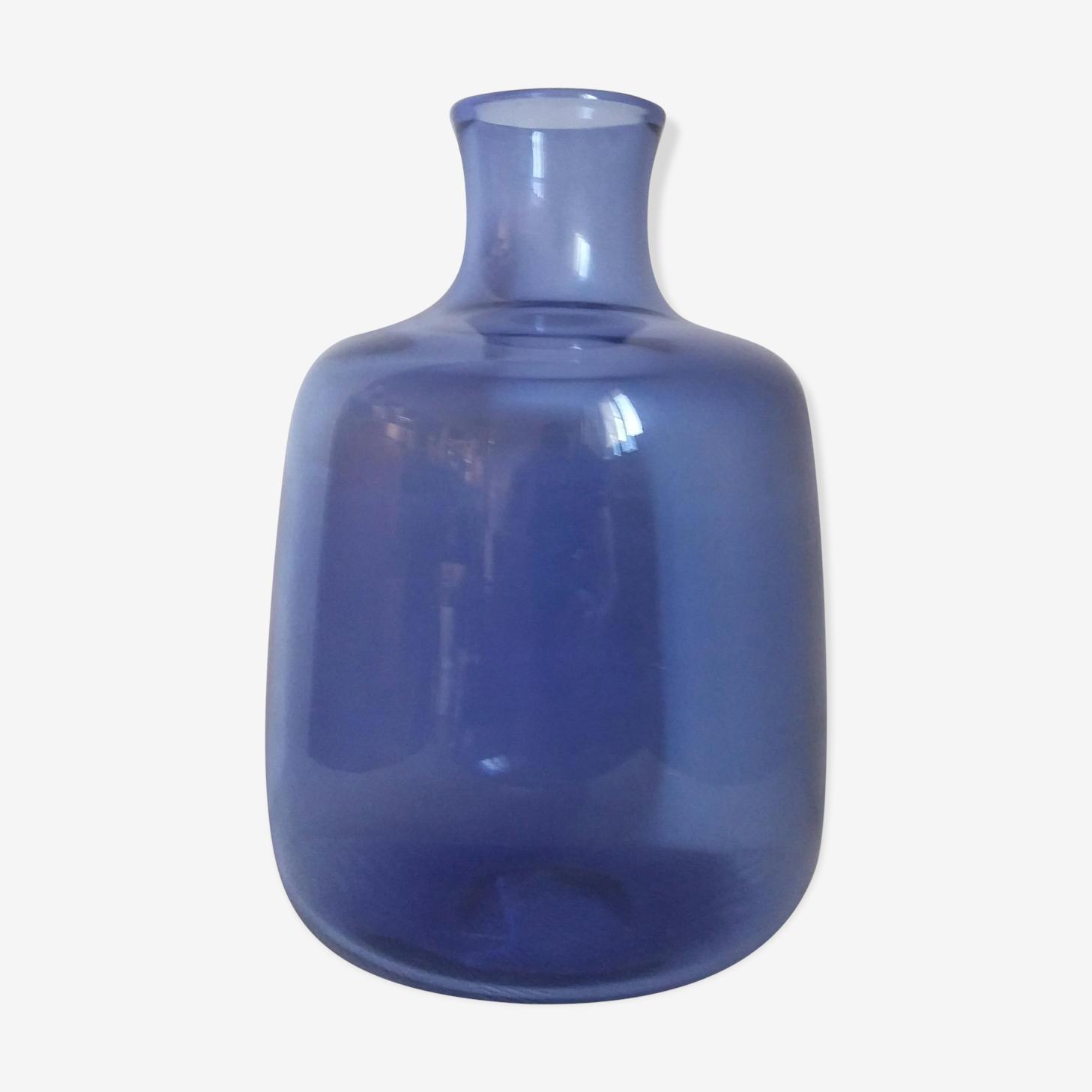 Vase saphir Holmegaard