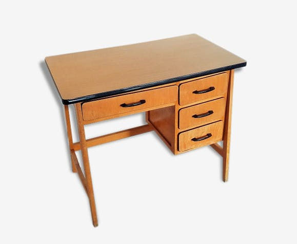 Petit bureau bois vintage bois matériau bois couleur