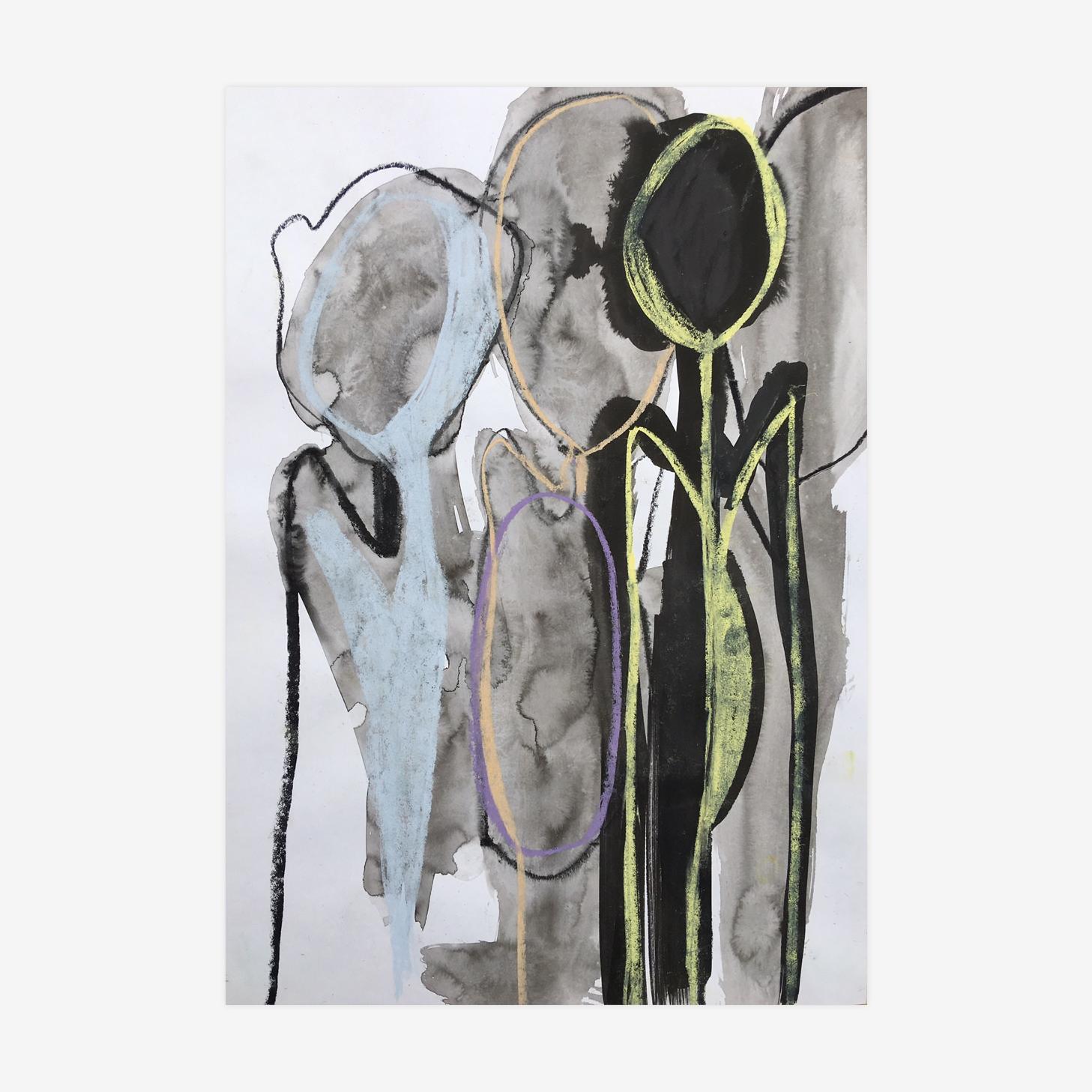 Les Bonshommes - 42 cm x 29,7 cm