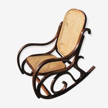 Rocking chair en  bois courbé enfant 1970 vintage