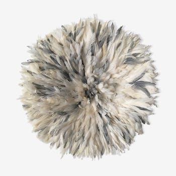 Juju hat blanc et gris - 85 cm