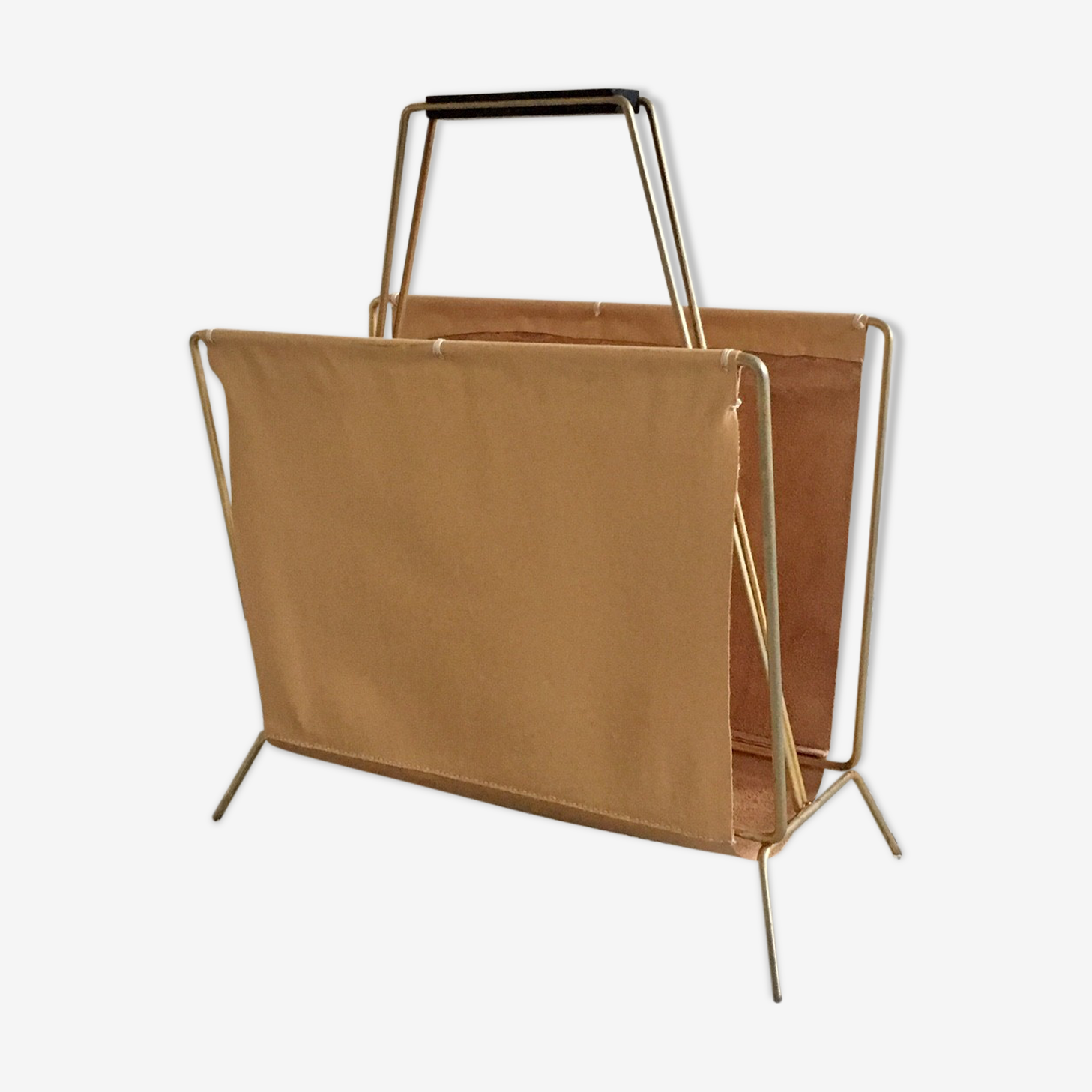 "Magazine rack leather ""nude"""