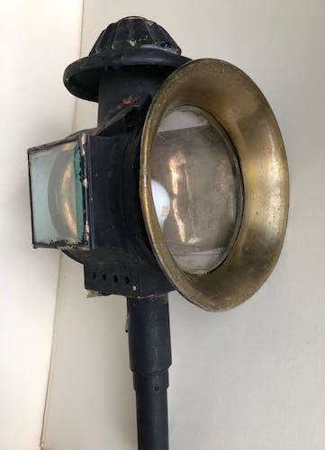 Lanterne ancienne électrifiée