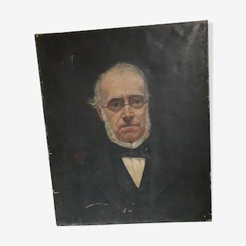 Portrait oil oíd nineteenth