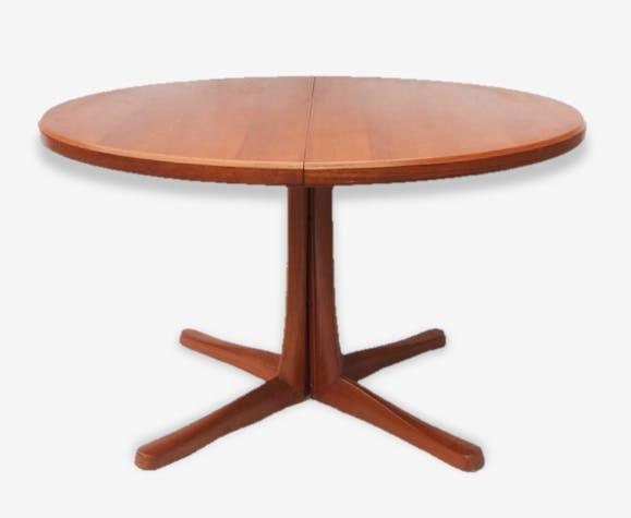 table salle manger pied central su de ann es 60 70. Black Bedroom Furniture Sets. Home Design Ideas