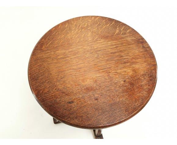 Table d'appoint en chêne de l'école Cotswold des Arts and Crafts Heals