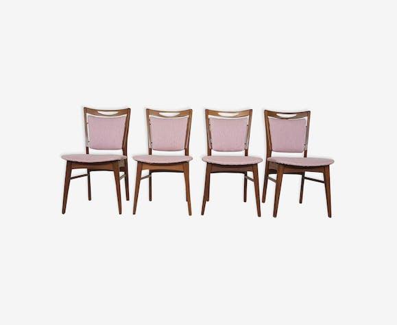 Ensemble de 4 chaises de salle à manger vintage les pays-bas des années 1960
