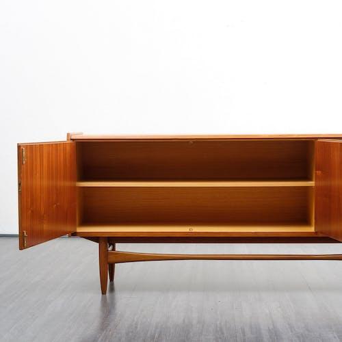 Enfilade années 60, en teck, style scandinave, 198cm