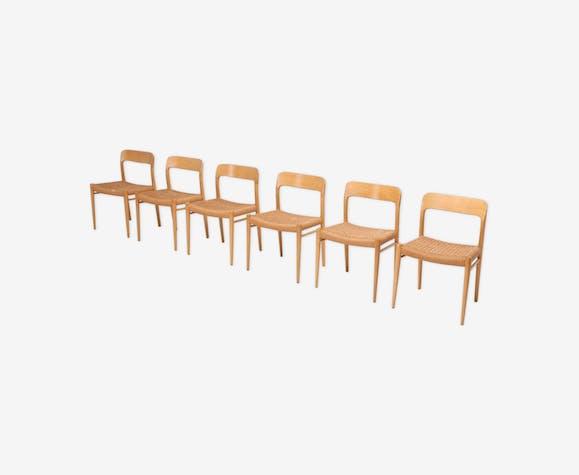 Modern Scandinavian oak chairs by N.O. Muller for J.L. Mollers 1970s