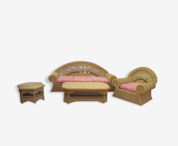salon de jardin en rotin rotin et osier beige art. Black Bedroom Furniture Sets. Home Design Ideas
