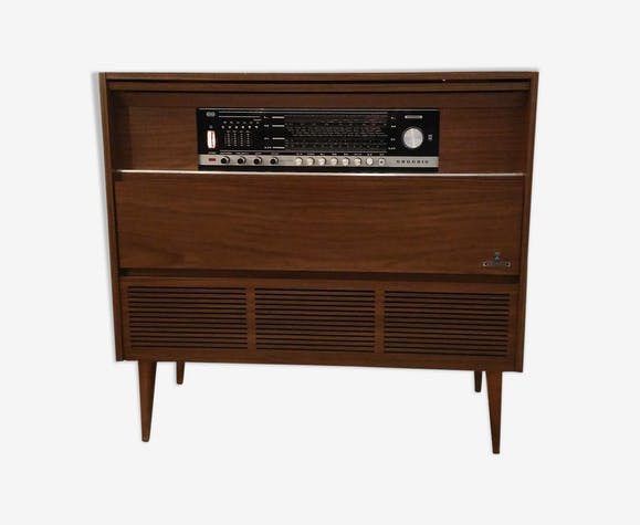 Radio Grundig 60s Feet Compass Furniture Wood Brown
