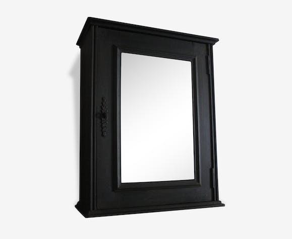 Petite Armoire Murale Noir Bois Matériau Noir Classique 117476