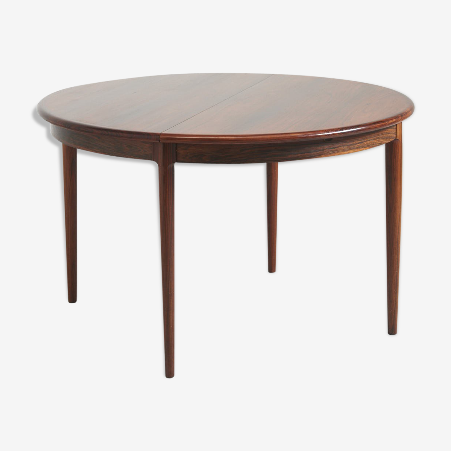 Round Rosewood Dining Table by Niels Möller 1960s