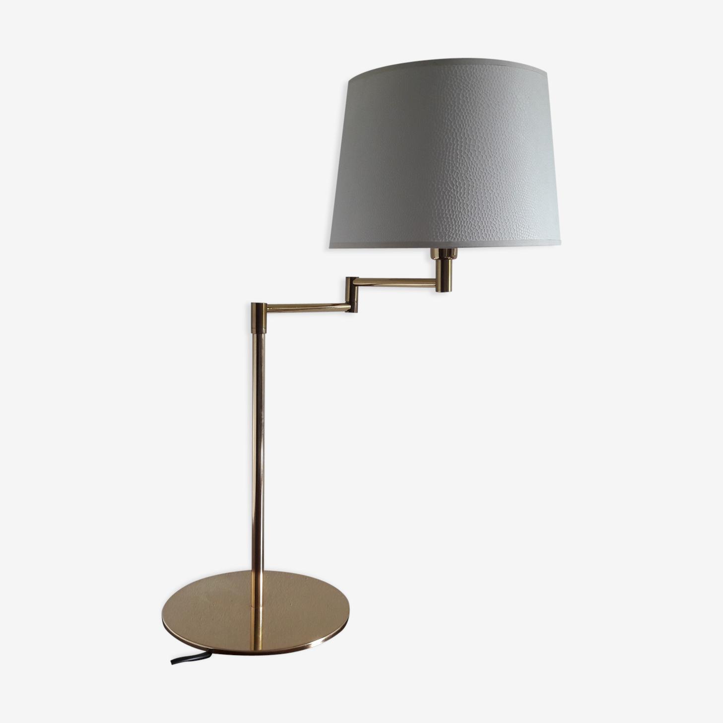 Lampe Liseuse Articulee Metal Dore Vintage Pwm2hcb